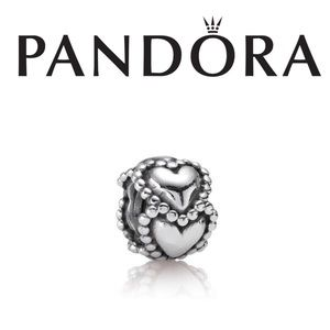 "Pandora Sterling Silver ""Everlasting Love"" Charm"